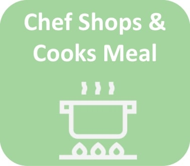 chef shops and cooks meal